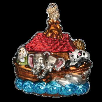 New Noah's Ark Glass Ornament
