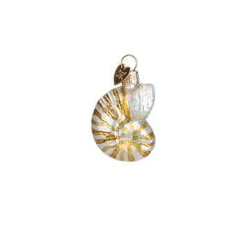 Mini Seashell Glass Ornaments Nautilus