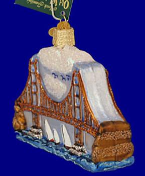 Golden Gate Bridge Old World Christmas Glass Ornament 20068 inset