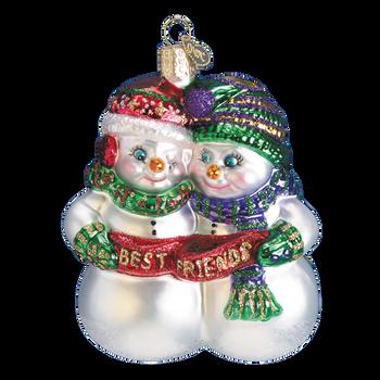 Best Friends Glass Ornament
