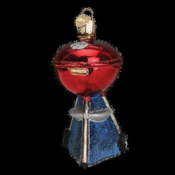 Classic Barbecue Glass Ornament red