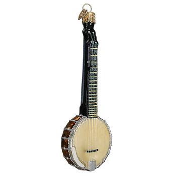 Banjo Glass Ornament