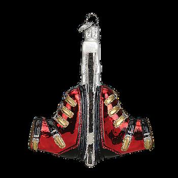 Ski Boots Glass Ornament