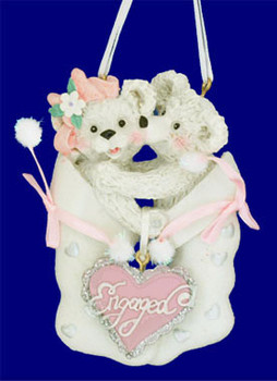 Engaged Bears Ornament resin