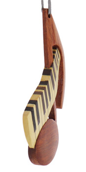 Music Note Intarsia Wood Ornament side