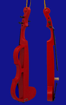 Electric Violin Ornament Red 5.625 inset