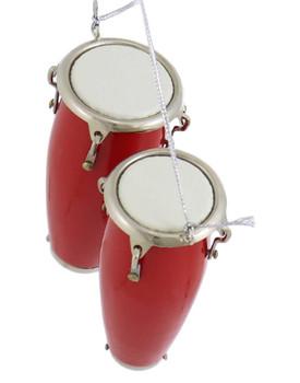 Mini Conga Drum Ornament - Double Conga top