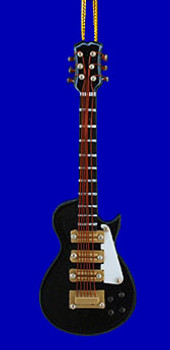 Mini Les Paul Electric Guitar Christmas Ornament Black 4