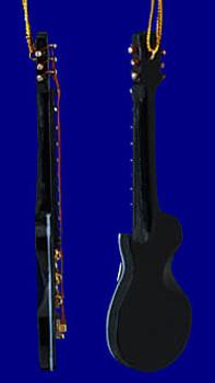 Mini Les Paul Electric Guitar Christmas Ornament Black 4 inset