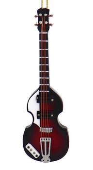 Mini Left-Handed Electric Guitar Ornament - Wood