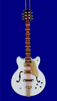 Mini Gretsch Electric Guitar Christmas Ornament White 4