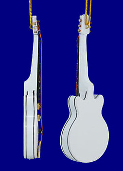 Mini Gretsch Electric Guitar Christmas Ornament White 4 inset