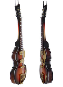 Mini Electric Bass Guitar Ornament left right side