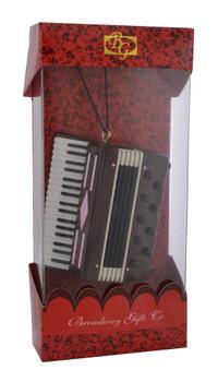 Accordion Ornament Mini Accordion Burgundy 2.87 Large with box