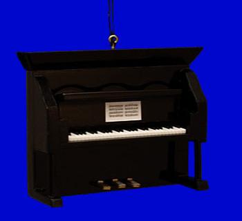 Upright Piano Ornament Mini Upright Piano Black Wood