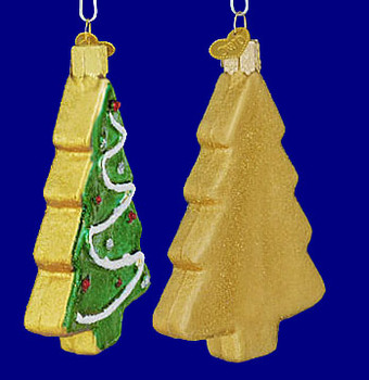 Tree Sugar Cookie Old World Christmas Glass Ornament 32183 inset