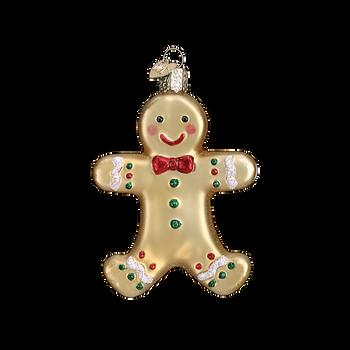 Gingerbread Man Sugar Cookie Glass Ornament