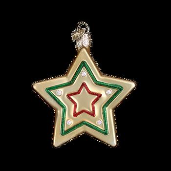 Star Sugar Cookie Glass Ornament