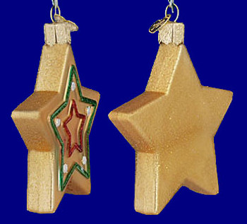 Star Sugar Cookie Old World Christmas Glass Ornament 32183 inset