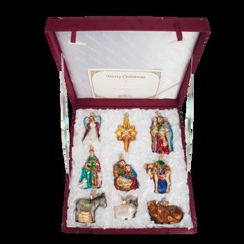 Nativity Collection 9 Ornaments Set, Premium Box