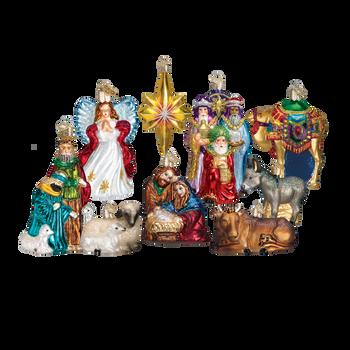 Nativity Collection 9 Ornaments Set, Premium Box Inset