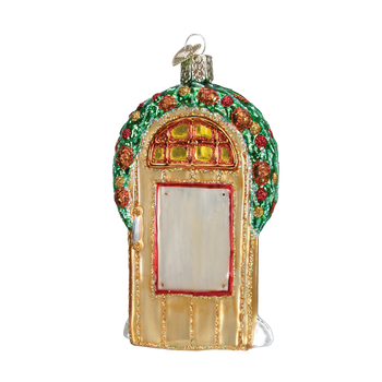 Welcome Home Door Glass Ornament back