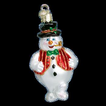 Mr Frosty Glass Ornament