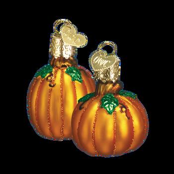 Mini Pumpkin Glass Ornaments