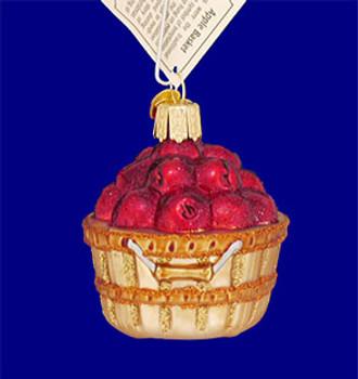 mini apple basket Old World Christmas Glass Ornament 28060 inset