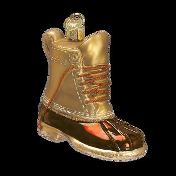 Field Boot Glass Ornament