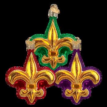 Fleur De Lis Glass Ornament
