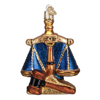 Lawyer - Scales of Justice Glass Ornament