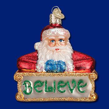 believe Santa Old World Christmas Glass Ornament 40262
