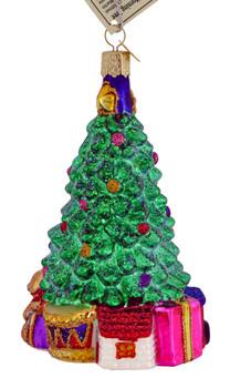 Christmas morning tree Old World Christmas Glass Ornament 48017 side 2