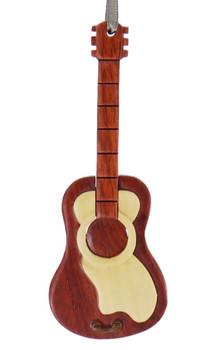 Guitar Intarsia Wood Ornament