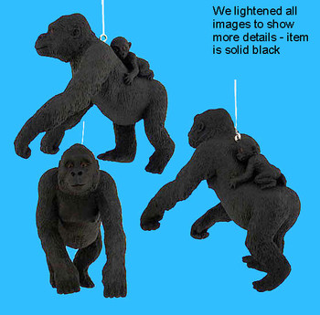gorilla with baby ornament inset
