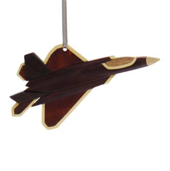 Airplane Jet Intarsia Wood Ornament