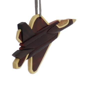 Airplane Jet Intarsia Wood Ornament side