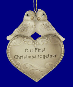 """Love Birds Our First Christmas Together Ornament, 3 5/8"""", #KAT0838"""