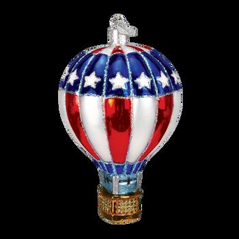 Hot Air Balloon Glass Ornament style a