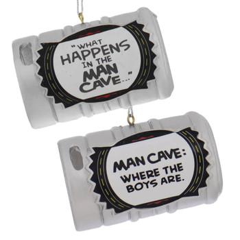 Man Cave Beer Keg Ornaments