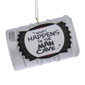 Man Cave Beer Keg Ornaments what front
