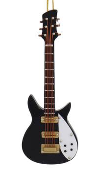 Mini Electric Guitar Ornament - Wood