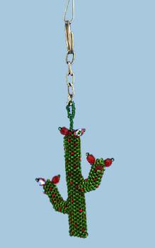 beaded cactus ornament inset