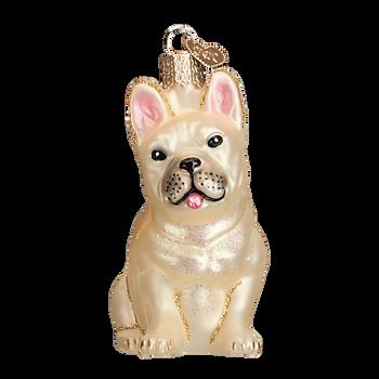 French Bulldog Glass Ornament