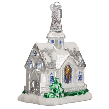 Sparkling Cathedral Church Glass Ornament