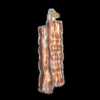 Bacon Strips Glass Ornament