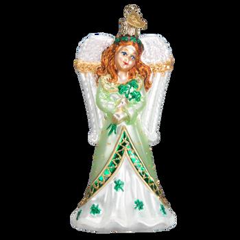Irish Angel Glass Ornament