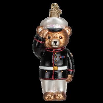 Bear Marine Glass Ornament