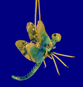 cloisonne dragonfly ornament inset
